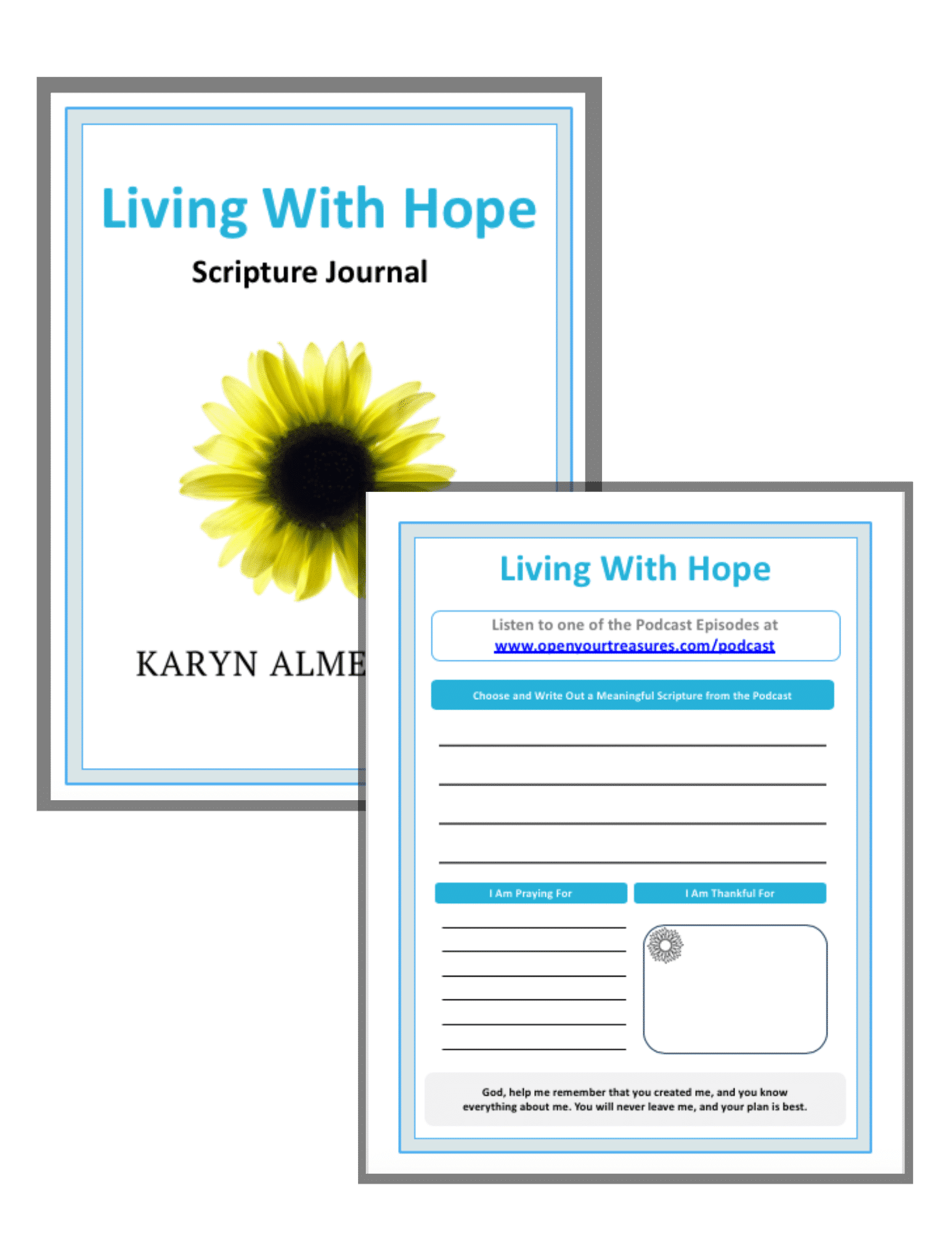 Living With Hope Scripture Journal image