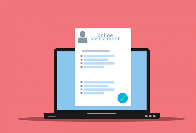 Online assessment illustration