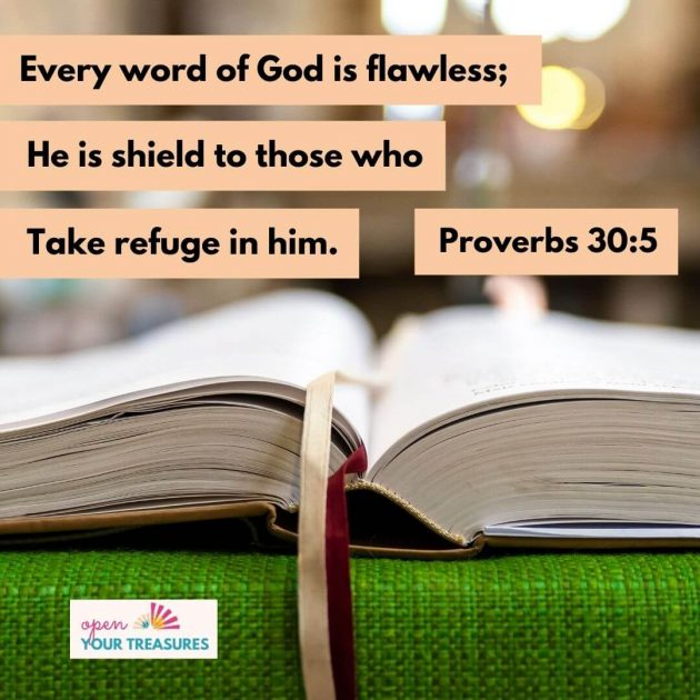 Every word of god is flawless